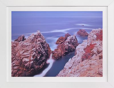 Ocean meets the land  Art Print