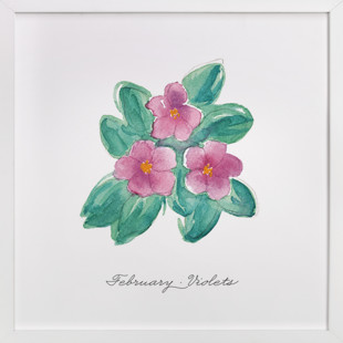 February Violets  Art Print