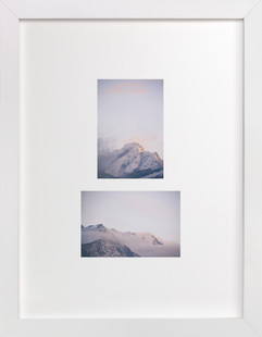 mountain study no.1 - cloudy  Art Print