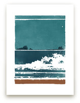 Screen Print Beach by Heather Francisco