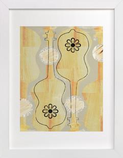 Two Guitars  Art Print