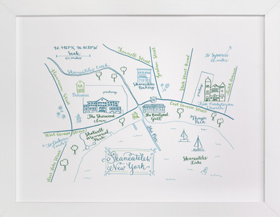 Skaneateles, New York Map  Art Print