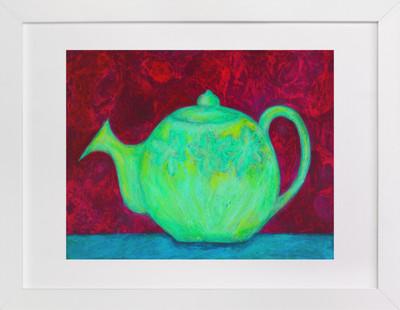 Green Teapot  Art Print