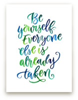 Be Yourself by Laura Bolter Design