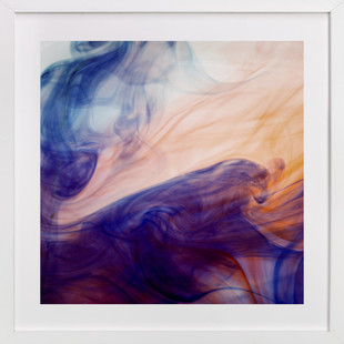 Blue into Orange  Art Print