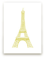 The Eiffel Tower in Pen by Sharon Rowan