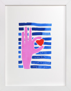 Heart owner  Art Print