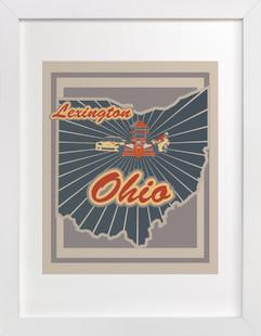 Lexington, Ohio  Art Print