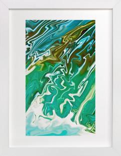 Waterfall Swirls  Art Print