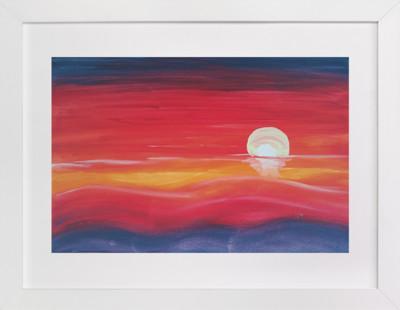 Red Sunset  Art Print