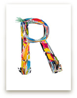 Collage letter R by Kiana Lee