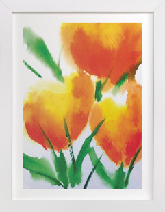 Zesty Orange Tulips  Art Print