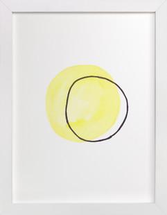 Yellow Ghost  Art Print