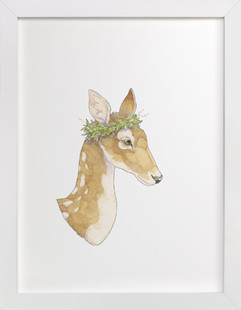 Mrs Deer  Art Print