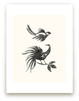 Ink Birds by Field and Sky