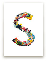 Collage letter S by Kiana Lee