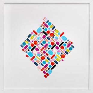 Geometric pill box  Art Print