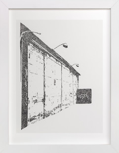 City In Dots No. 3  Art Print