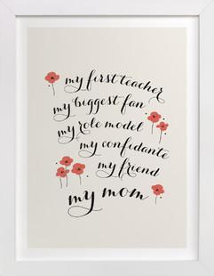 My Best Friend, My Mom  Art Print