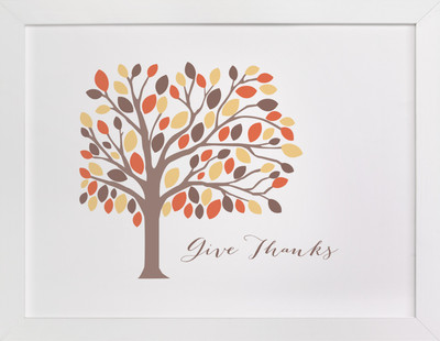Give Thanks Tree  Art Print