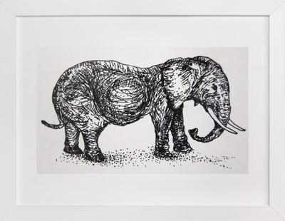 A pregnant elephant  Art Print