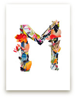 Collage Letter M by Kiana Lee