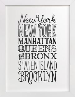 My Type of New York  Art Print