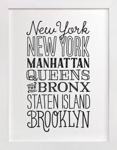 My Type of New York  Art Print