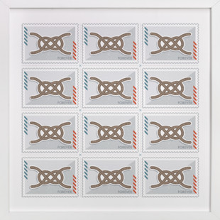 Knot Stamps  Art Print