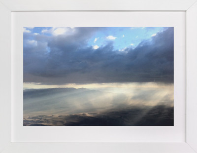 Desert Light and Clouds  Art Print
