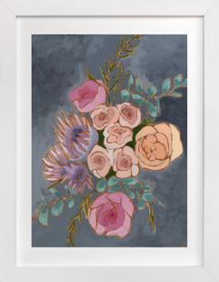 A Bouquet for Kate floral  Art Print