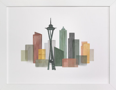 Skyline Seattle  Art Print