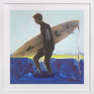 Wyatt, at Sunset  Art Print
