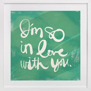 So in Love  Art Print
