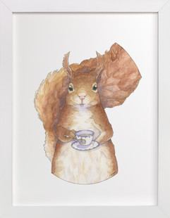 Proper Squirrel  Art Print