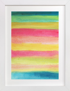 painted abstract stripes2  Art Print