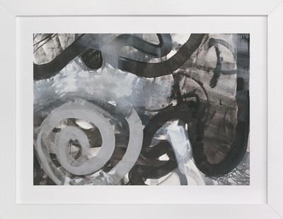 Black and White Vapor Series 4  Art Print
