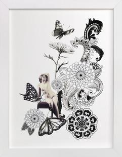 Paisley Butterflies  Art Print