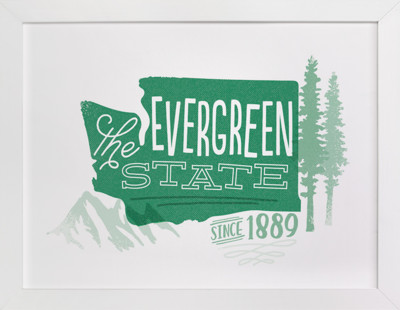 The Evergreen State  Art Print