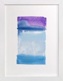 Violet Horizon  Art Print