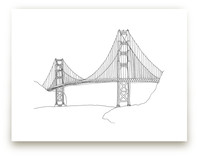 The Golden Gate in Pen by Sharon Rowan