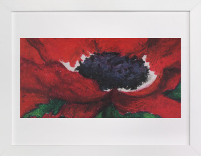 Red Poppy in Pastels  Art Print