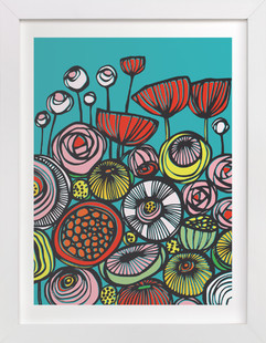 Pop Art Blooms  Art Print