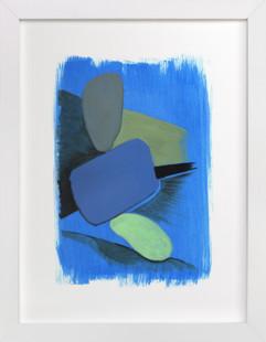 Cobalt Harbor  Art Print