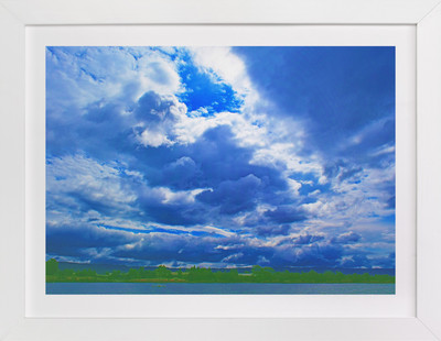 Stormy clouds  Art Print