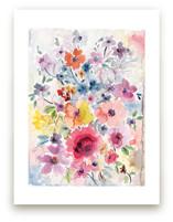 Watercolor Flowers 1 by Susanna Nousiainen