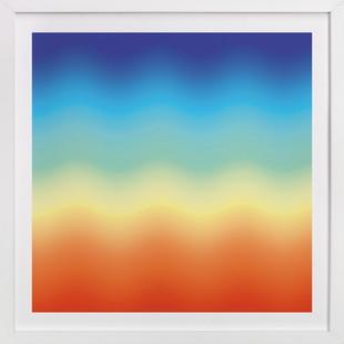 Ombr Sunset  Art Print