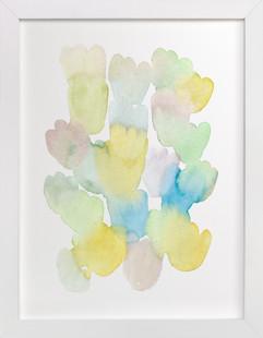 Pastel Tulips  Art Print