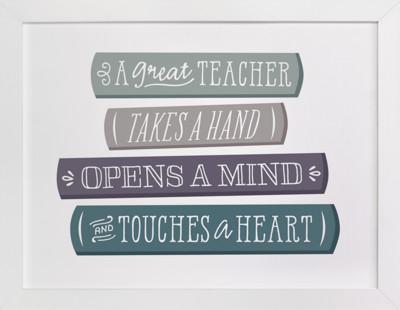 A Teacher's Library  Art Print