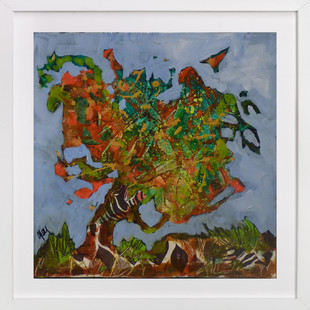 Mon arbre orange  Art Print